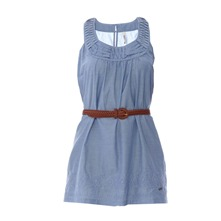 Robe Anne chambray bleue
