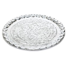 Silver Embossed Metal Tray