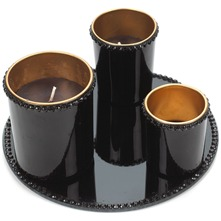 Black Plate/Candle Set