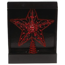 Red Beaded Star Tree Topper