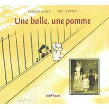 Une balle, une pomme