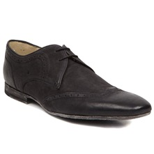 Men footwear: Black Leather Connaught Lace-up Shoes