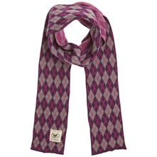 Purple/Grey Argyle Cotton Scarf (on a spool)
