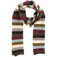 Multicolour Neutral Bohemian Stripe Scarf
