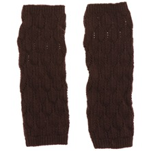 Brown Lief Wool Blend Gloves