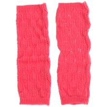 Pink Lief Wool Blend Gloves