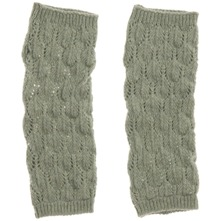 Pale Green Lief Wool Blend Gloves
