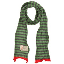 Green/Grey/Red Stripey Cotton Scarf (on a spool)