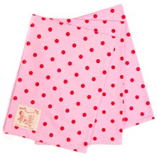 Set of 3 Pink/Red Polka Dot Teatowel