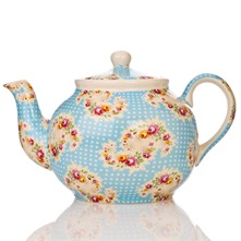 Blue Antique Paisley Six Cup Teapot