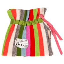 Multicoloured Striped Knitted Tea Cosy