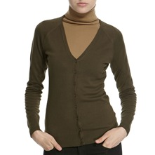 Moss Green V-Neck Cardigan