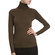 Moss Green Roll Neck Jumper