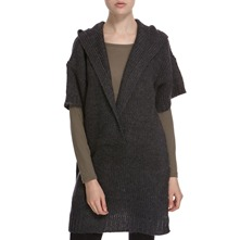 Anthracite Hooded Wool Blend Jumper