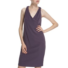 Purple Back Tie Dress