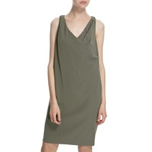 Khaki Back Tie Dress