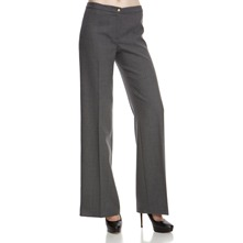 Anthracite Wool Blend Flared Trousers 35