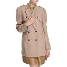 Nude Wool Blend Double Breasted Jacket
