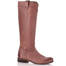 Light Brown Long Leather Boots