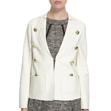 Ivory Cotton Blend Nautical Cotton Blazer