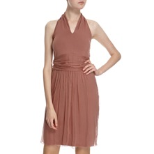 Rust Layered Halter Dress