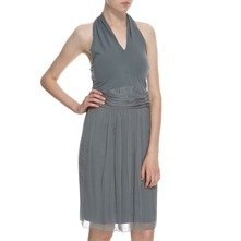 Steel Layered Halter Dress