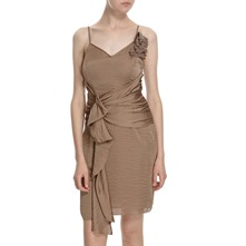 Mink Spaghetti Strap Dress