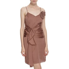 Dark Copper Spaghetti Strap Dress