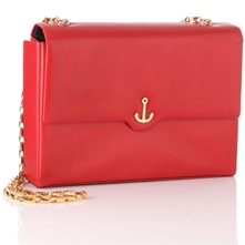 Red Flapover Handbag