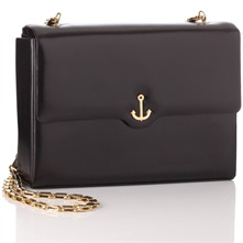 Black Flapover Handbag