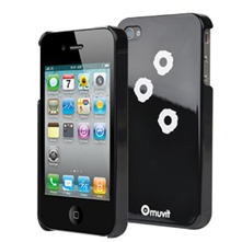 Coque Glossy impacts noir et blanc pour iPhone 4