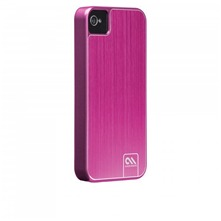Coque rose en aluminium pour iPhone 4/4S