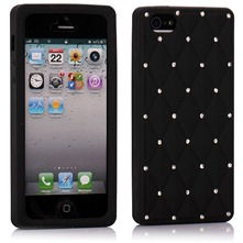 Etui en silicone noir pour iPhone 5