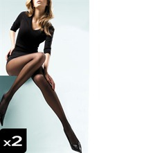 Lot de 2 collants Laura noir