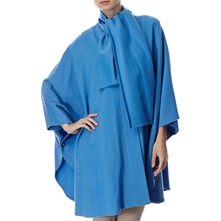 Blue Wool/Cashmere Blend Cape