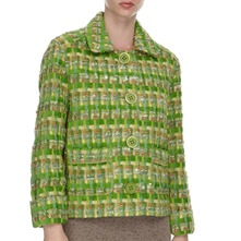 Green Woven Wool/Mohair Blend Jacket