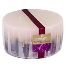 Wild Fig/Cassis Berry Inlaid Three Wick Candle