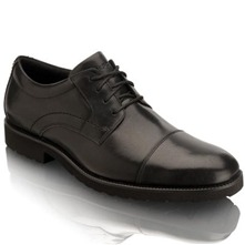 Black OC Cap Toe Leather Shoes
