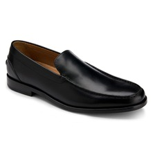 Men footwear: Black Leather PD Venetian Moccasins