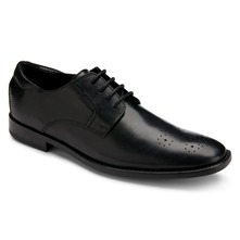 Black Leather OR Perforated Plain Toe Shoes