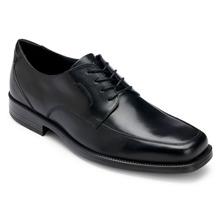 Black Leather RB Mocfront Shoes