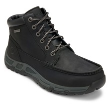 Black Leather H Heights Boots