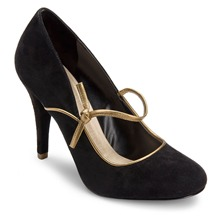 Black Leather Presia Tied Shoes 9cm Heel