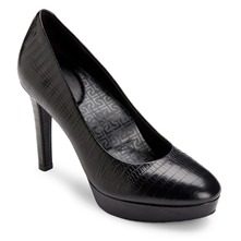 Black Leather Janae Shoes 10cm Heel
