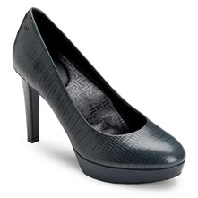 Dark Grey Leather Janae Shoes 10cm Heel