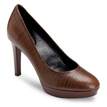 Brown Leather Janae Shoes 10cm Heel