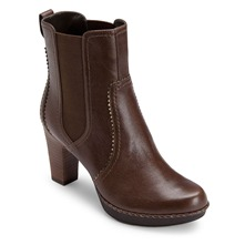 Brown Leather Anevia Chelsea Boots 13cm Heel