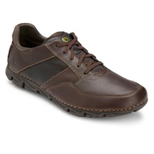 Men footwear: Brown Leather Lite Shoes