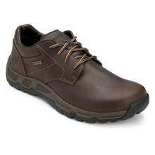 Dark Brown Leather Heights Plain Shoes