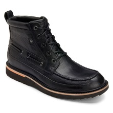 Black Leather Union Street Moc Boots